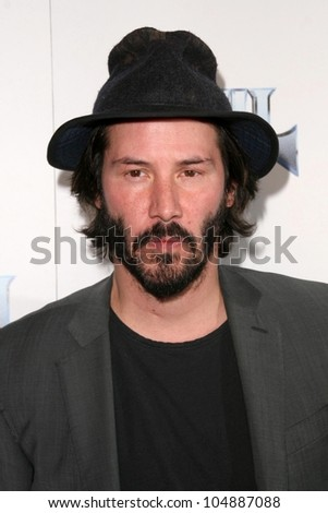 Keanu Reeves at the Los Angeles Premiere of 'Anvil! The Story of Anvil'. The Egyptian Theatre, Hollywood, CA. 04-07-09 - stock photo