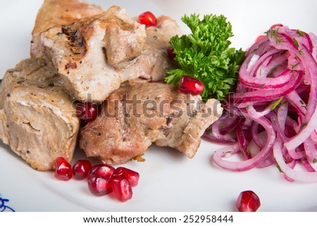Kebab meat - stock photo