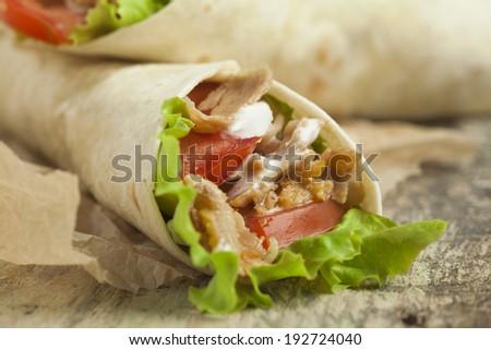 Kebab wrap - stock photo