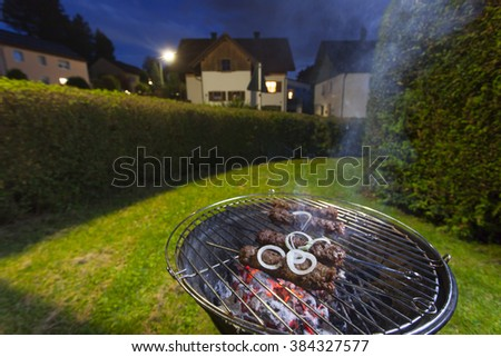 kebap skeser on a bbq