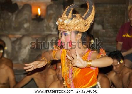 Kecak Balinese dance, Ubud, Bali Tuesday, September 20, 2011 - stock photo