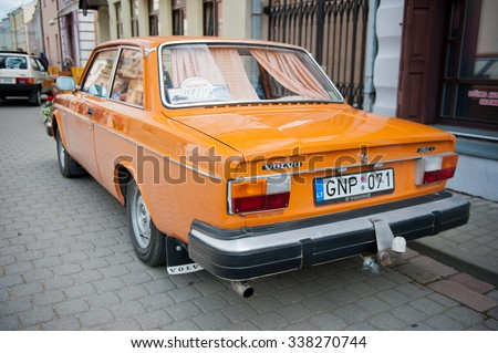 KEDAINIAI - JUNE 20: Volvo 242 L on the street on June 20, 2015 in Kedainiai, Lithuania. The Volvo 200 series was a range of executive cars produced by Volvo Cars from 1974 to 1993. - stock photo