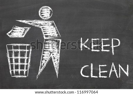 keep clean sign - stock photo
