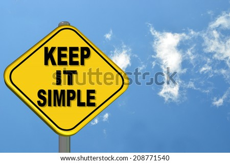 keep it simple - sign