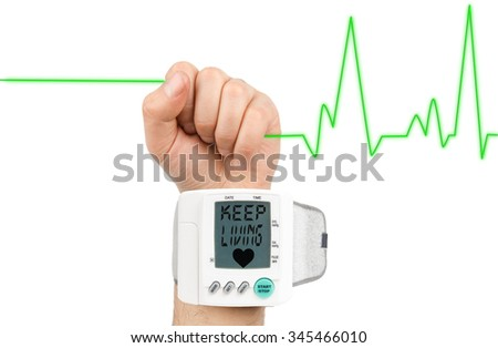 Keep living on blood pressure monitor