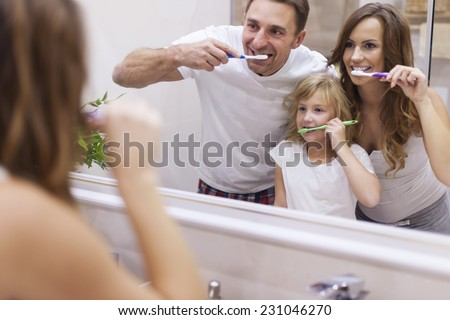 Keeping your teeth in good condition   - stock photo