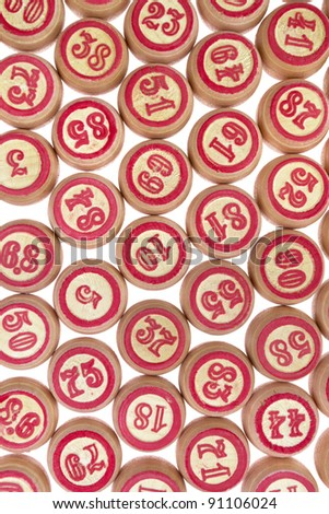 kegs for game in a lotto - stock photo