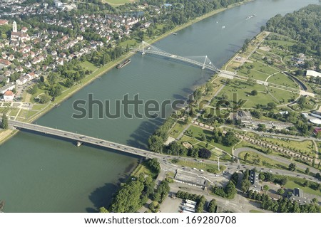 Kehl at the River Rhein, Germany