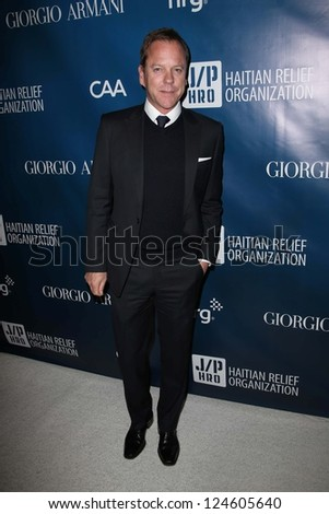 "Keifer Sutherland at the 2nd Annual Sean Penn & Friends ""Help Haiti Home,"" Montage Hotel, Los Angeles, CA 01-12-13"