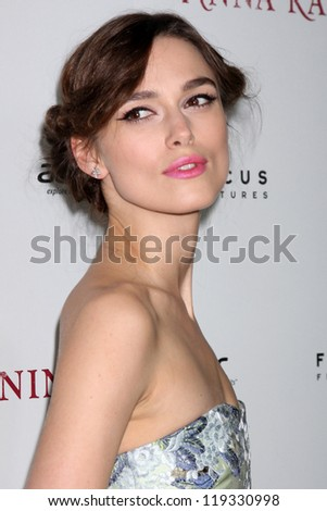 "Keira Knightley at the ""Anna Karenina"" Los Angeles Premiere, ArcLight, Hollywood, CA 11-14-12"