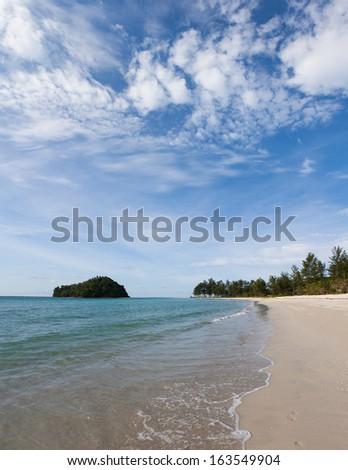 Kelambu beach borneo malaysia - stock photo