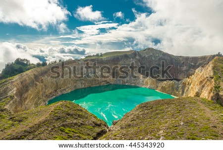 Kelimutu volcano - stock photo
