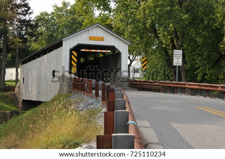 Kellers Mill Covered Bridge in Ephrata, Lancaster County, PA