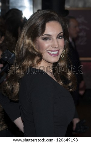 Kelly Brook arriving for the British Fashion Awards 2012 at the Savoy Hotel, London. 27/11/2012 Picture by: Simon Burchell - stock photo