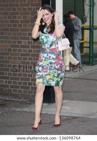 Kelly Brook arriving for the Chickenshed Theatre charity event, London Studios, South Bank, London. 16/04/2013 Picture by: Alexandra Glen
