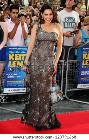 "Kelly Brook arriving for the premiere of ""Keith Lemon: The Film"" at the Vue Cinema, Leicester Square, London. 21/08/2012. Picture by: Steve Vas - stock photo"