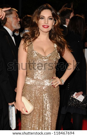 Kelly Brook  arriving for the Royal World Premiere of 'Skyfall' at Royal Albert Hall, London. 23/10/2012 - stock photo