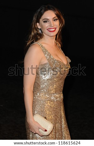 "Kelly Brook arriving for the ""Skyfall"" world premiere after party at the Tate Modern, London. 23/10/2012 Picture by: Steve Vas - stock photo"