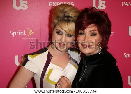 Kelly Osbourne and Sharon Osbourne at US Weekly's Hot Hollywood Event, Colony, Hollywood, CA. 11-18-10 - stock photo
