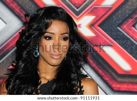 Kelly Rowland arriving for the final of The X Factor 2011 at Wembley Arena in London. 10/12/201. Picture by: Simon Burchell / Featureflash - stock photo