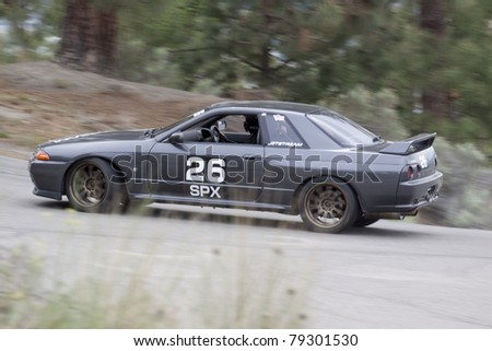 KELOWNA, BC, CANADA, MAY 21: Unidentified Driver  Racing at the 54th annual Knox Mountain Hillclimb Race for Charity on May 21, 2011 in Kelowna, BC, Canada.