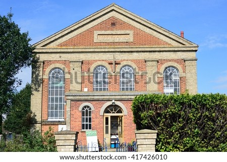 KELVEDON ESSEX  UK  14 April  2016: United Reform Church Victorian Building