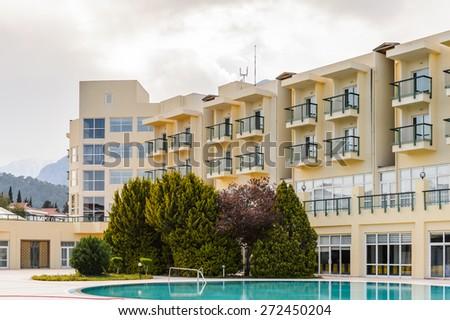 Apartment Complex Building Suburban Area Stock Photo