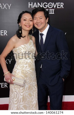 "Ken Jeong and wife at ""The Hangover Part III"" Los Angeles Premiere, Village Theater, Westwood, CA 05-20-13"