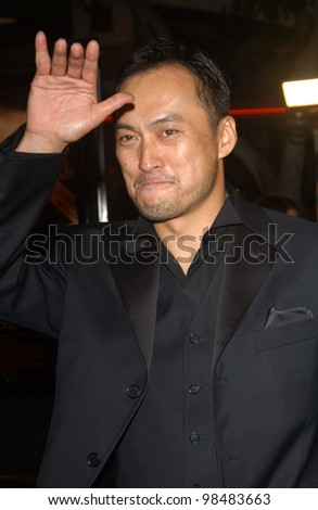 KEN WATANABE at the Los Angeles premiere of his new movie The Last Samurai. December 1, 2003  Paul Smith / Featureflash
