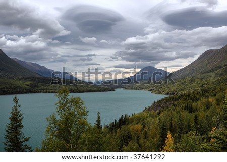 Kenai Lake in Alaska - stock photo