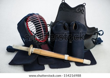 Kendo equipment, horizontal shot - stock photo
