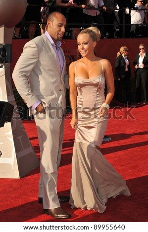 Kendra Wilkinson & Hank Baskett at the 2011 ESPY Awards at the Nokia Theatre LA Live in downtown Los Angeles. July 13, 2011  Los Angeles, CA Picture: Paul Smith / Featureflash