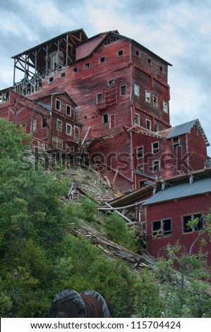 Kennecott Copper Mine, AK - stock photo