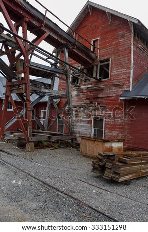 Kennecott old mine village at McCarthy Alaska