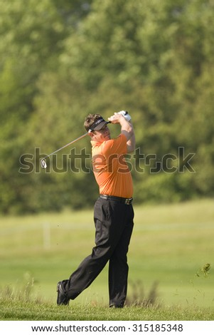 KENT ENGLAND, 29 MAY 2009. Lee WESTWOOD (GBR) playing in the second round of the European Tour European Open golf tournament.  - stock photo