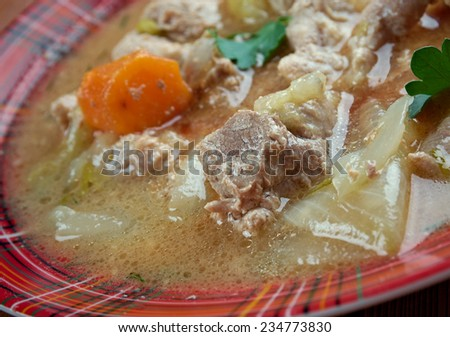 Kentucky Burgoo Stew .slow-cooked mishmash of meats and vegetablesstew,