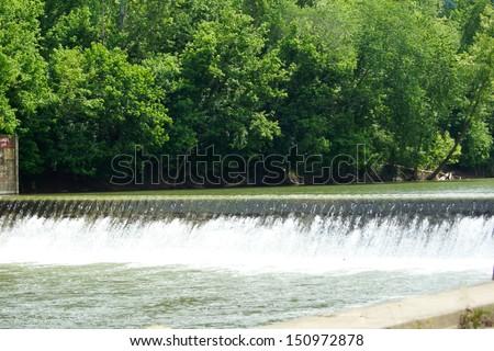 Kentucky River Lock & Dam Number 13, near Willow,  Lee County, Kentucky  - stock photo