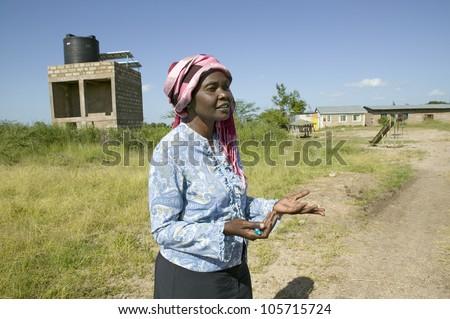 KENYA, AFRICA - JANUARY 2007 - Khadija Rama, founder of Pepo La Tumaini Jangwani, HIV/AIDS Community Rehabilitation Program, Orphanage & Clinic.  On Jan 2007 in Nairobi, Kenya, Africa - stock photo
