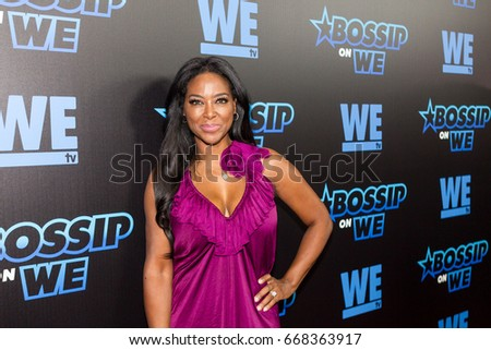 Kenya Moore arrives on the Red carpet at Bossip Best Dressed List awards on WeTv in Atlanta Georgia on June 27th 2017 at the W Midtown's Lounge, Elevate