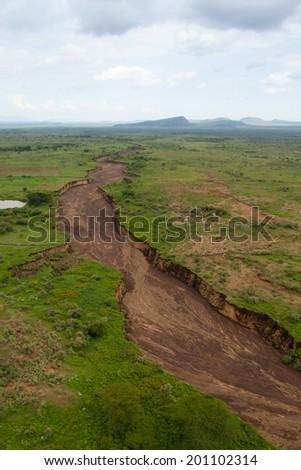 Kenya's breathtaking landscape - stock photo