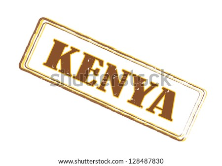 Kenya vintage grungy stamp - stock photo
