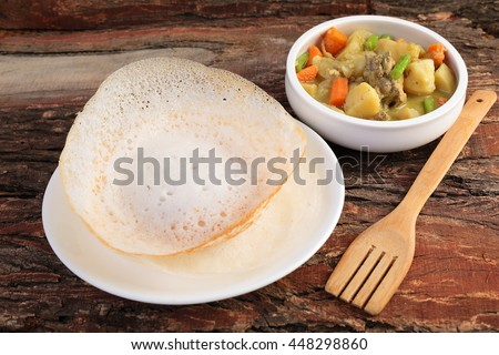 Kerala food stock images royalty free images vectors for Appam and chicken stew kerala cuisine