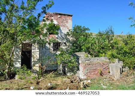 Kerch, Crimea, July, 12, 2016. ruins of the building in the fortress in Kerch, Crimea