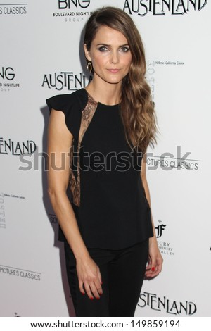 "Keri Russell at the ""Austenland"" Los Angeles Premiere, Arclight, Hollywood, CA 08-08-13 - stock photo"