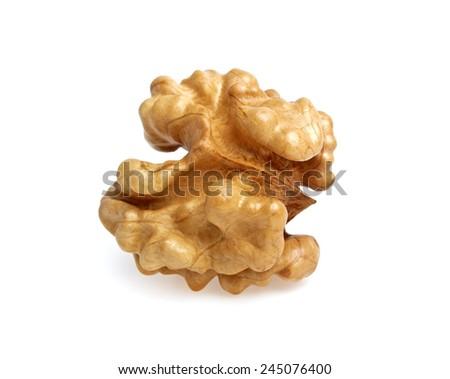 Kernel walnut isolated on a white background - stock photo