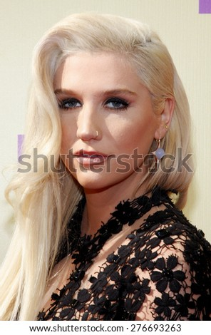 Kesha at the 2012 MTV Video Music Awards held at the Staples Center in Los Angeles, United States on September 6, 2012.