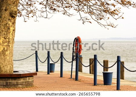 Keszthely harbor at Lake Balaton, Hungary - stock photo