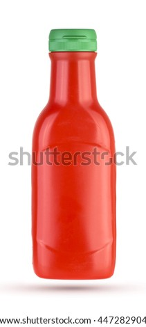 Ketchup bottle isolated on white background.
