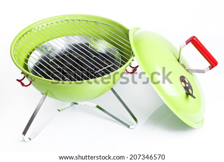 kettle barbecue grill isolated on white background  - stock photo