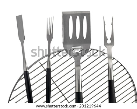Kettle BBQ tools - stock photo